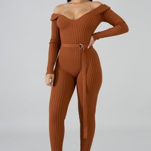 Pants - New Me Rib Knit Jumpsuit